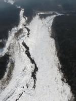 富士山の雪崩の様子