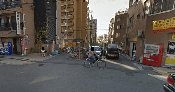 恵美須西の路上の画像