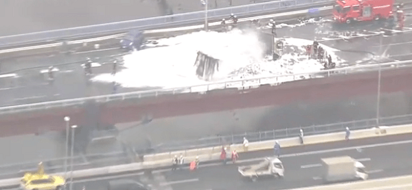 事故が起きた国道357号線の画像