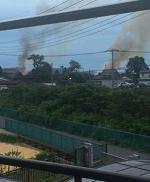 三郷市の火事現場の画像