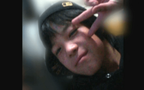 大師中学校の中1男子・上村遼太の画像