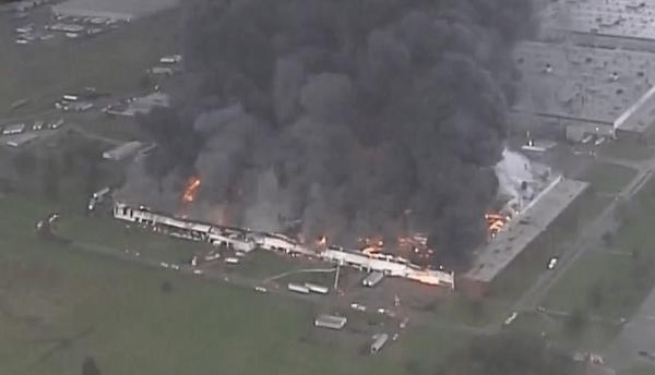 火事現場の画像