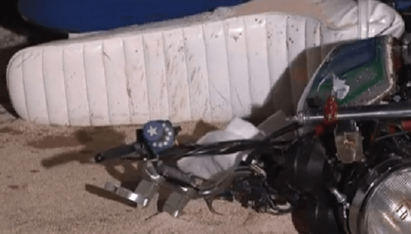 旧車會の事故バイクの画像