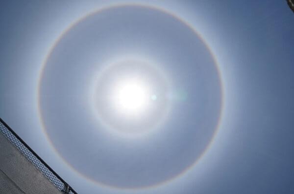 日暈の画像