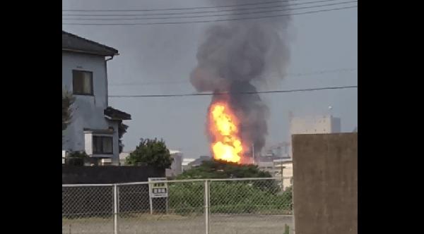 爆発火災が起きた中国アセチレンの画像