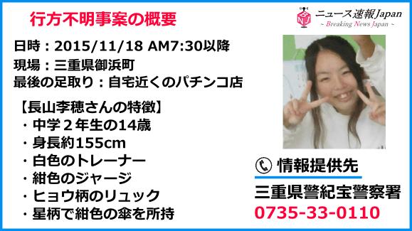 長山 李穂(ながやま りお)さんの顔写真と特徴画像