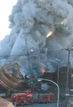 船橋市潮見町の火事現場の画像