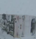岸和田観光バスの事故現場の画像