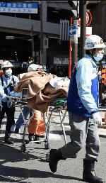 ヨドバシ梅田の前の事故現場画像
