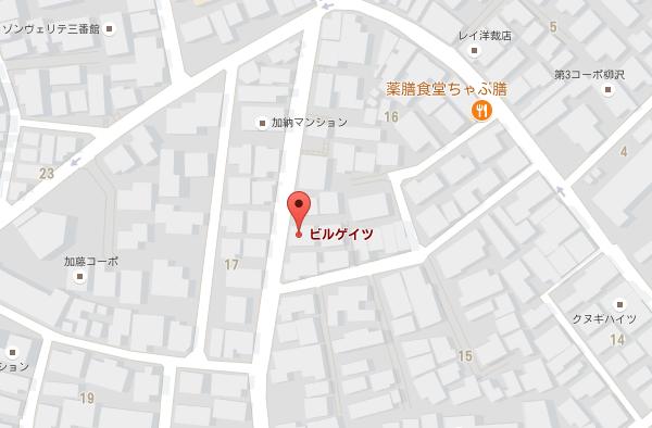 破産したビルゲイツのGoogleマップの地図