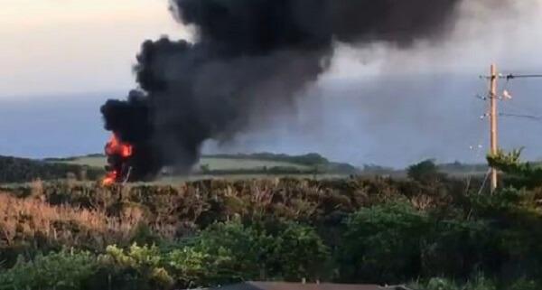墜落した米軍ヘリの写真画像