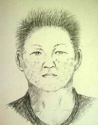 広島県廿日市警察署が公開した犯人の似顔絵画像