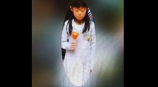 小針小学校の発表会で撮影された大桃たまきちゃんの顔写真画像