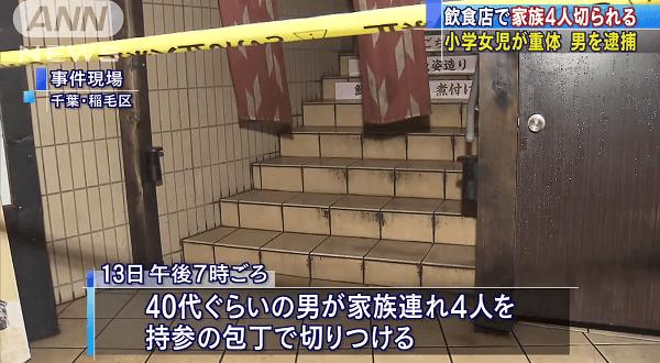 稲毛駅前で元千葉市議が起こした殺傷事件ニュースのキャプチャ画像