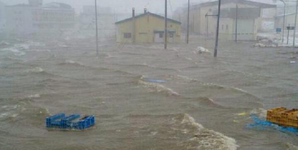 根室市が水没冠水-高潮の影響で住宅への浸水被害も 避難勧告発令