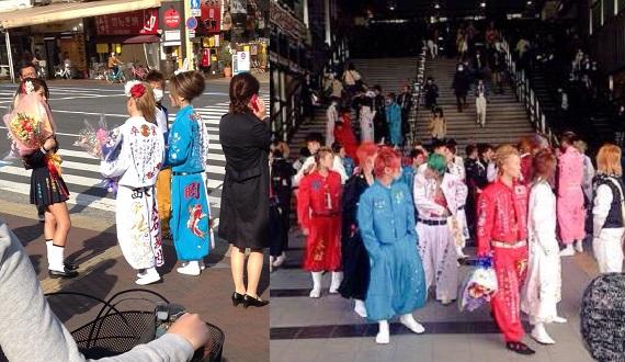 岡山駅前に集まるヤンキー(不良少年・少女)の写真画像