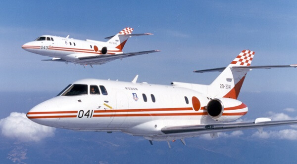 航空自衛隊ジェット機「U-125」の画像