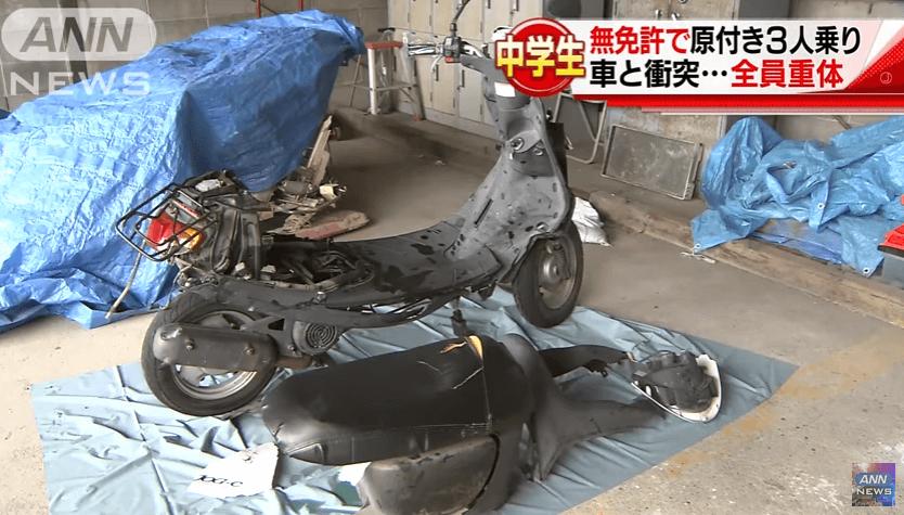 滋賀県湖南市日枝町の中学生無免許運転事故ニュースのキャプチャ画像