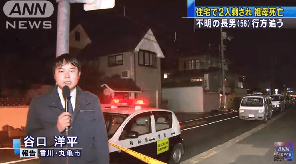 香川県丸亀市六番丁の殺人事件ニュースキャプチャ画像