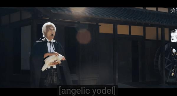 Chicken Attack(鶏攻撃の術)の石井健雄さんの登場する場面の画像