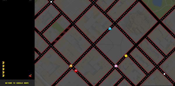 Googleマップでパックマンの画像