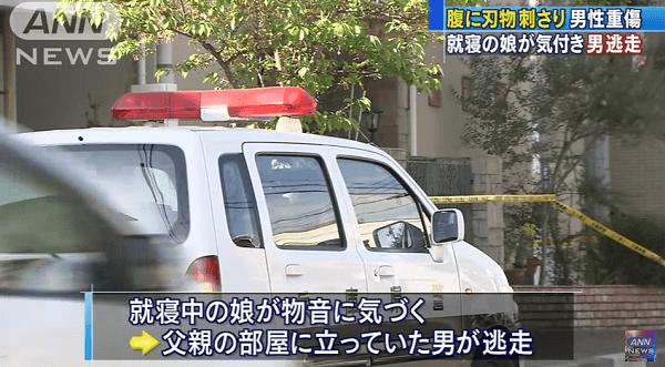 神戸市須磨区の住宅に犯人が侵入して刃物で男性を刺す殺人未遂事件のニュースのキャプチャ画像