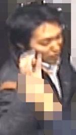 女子高生に無理やりキスをする犯人の顔写真の画像