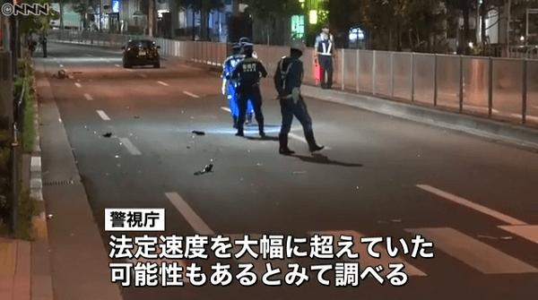 自転車と乗用車が衝突事故、約100m飛ばされ男性死亡のニュースのキャプチャ画像