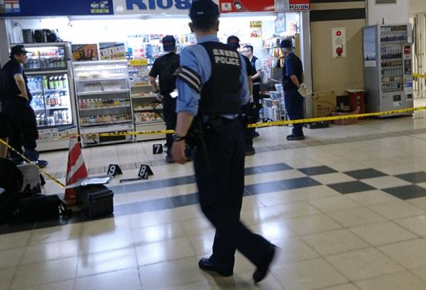 札幌駅のキヨスクで強盗事件のニュースキャプチャ画像