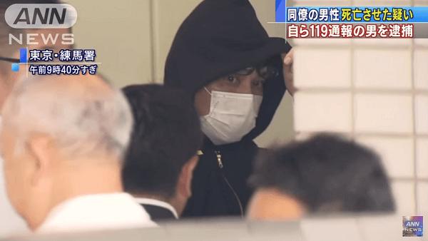 練馬区早宮で岩本憲道容疑者が同居人を暴行死させる事件のニュースキャプチャ画像