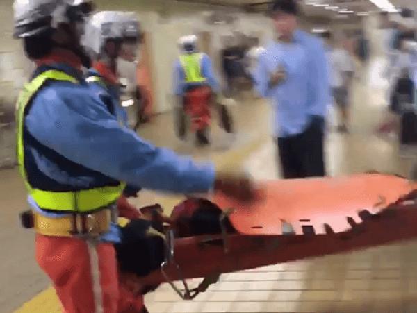 鶴舞線の原駅で人身事故のニュースキャプチャ画像