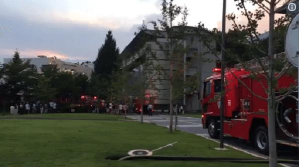 工学院大学で火事のニュースキャプチャ画像