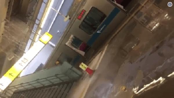 海老名で雨漏りしているニュースキャプチャ画像