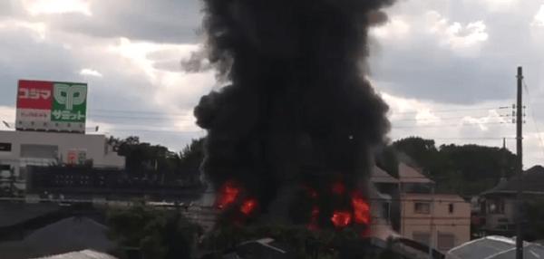 杉並区善福寺で火事のニュースキャプチャ画像