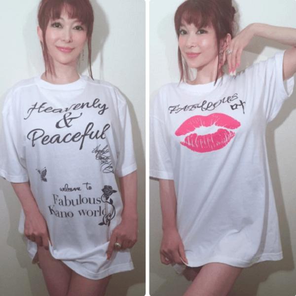 叶姉妹のブース「プレシャスM組」と「ファビラス叶組」のTシャツの画像