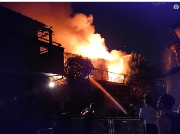 志木市中宗岡の住宅で火事のニュースキャプチャ画像