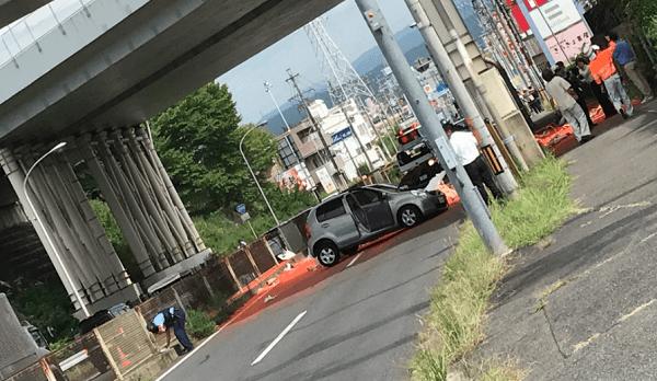 多治見市の中央道で事故のニュースキャプチャ画像