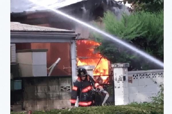 蕨市南町の住宅で火事のニュースキャプチャ画像