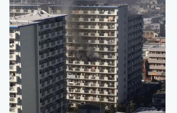 江戸川区船堀で火事のニュースキャプチャ画像