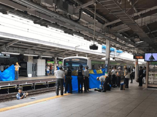 山手線の東京駅で人身事故のニュースキャプチャ画像
