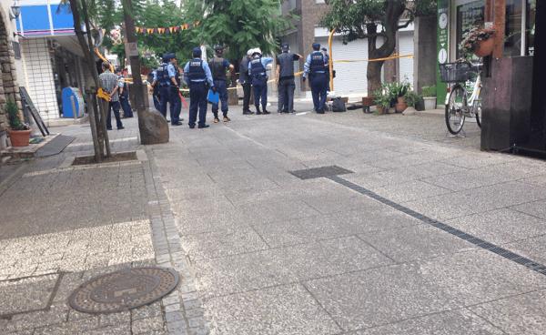 習志野市谷津のローソン前での殺人未遂事件のニュースキャプチャ画像