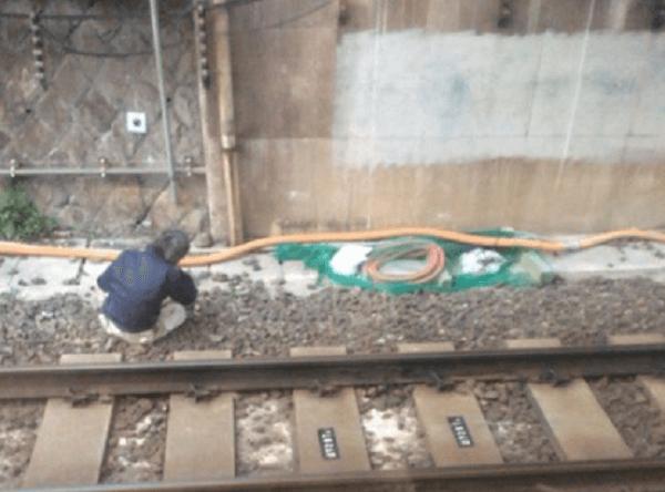 山手線で線路の男性が侵入し運転を見合わせのニュースキャプチャ画像