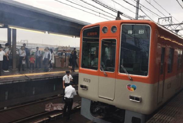 阪神本線・芦屋駅で人身事故の画像