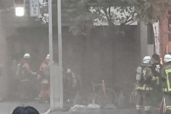 名古屋市中村区名駅で爆発事故・火事の画像