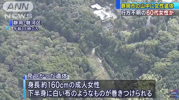 静岡市駿河区大谷で殺人・死体遺棄事件のニュースキャプチャ画像