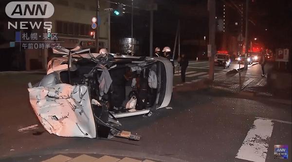 北海道札幌市東区北で父親が飲酒運転で事故を起こし1歳児が死亡したニュースキャプチャ画像