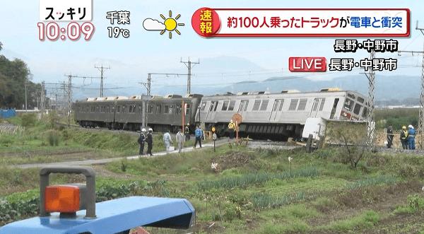 長野電鉄の事故でスッキリが速報を流した放送事故の画像