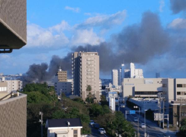 明石市大蔵中町の明石城付近で火事の画像