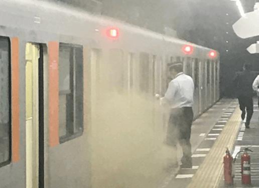 あざみ野駅で電車から発煙トラブルの画像