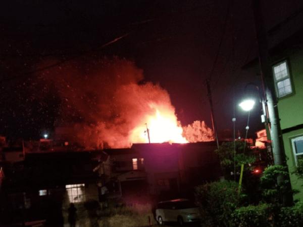 大津市富士見台の住宅で火事の画像